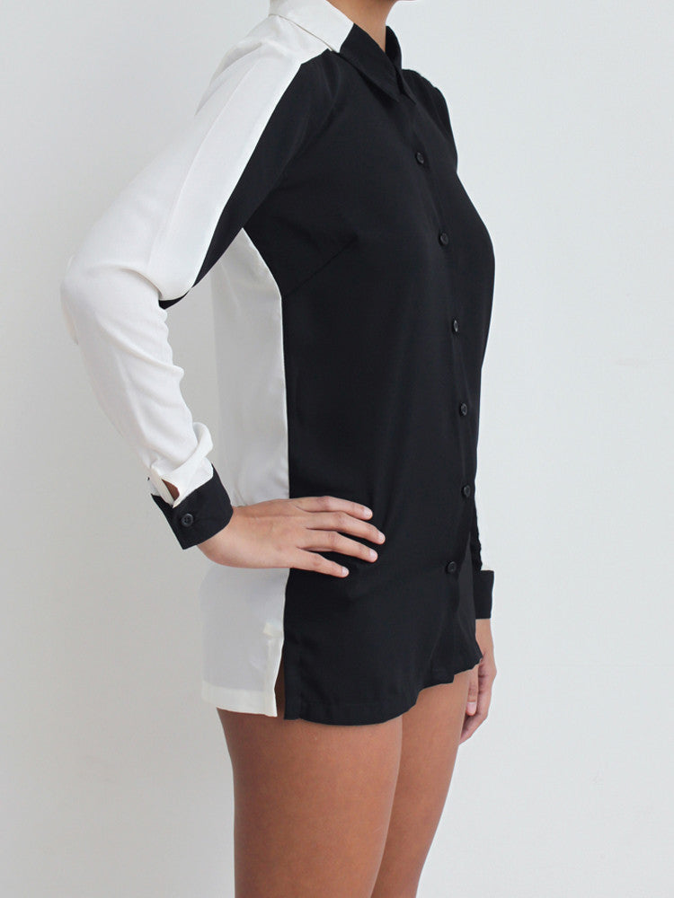 Renée Contrast Panel Shirt
