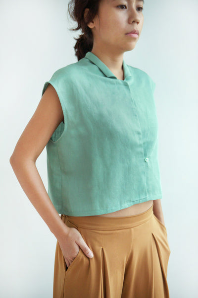 Sage Cropped Blouse