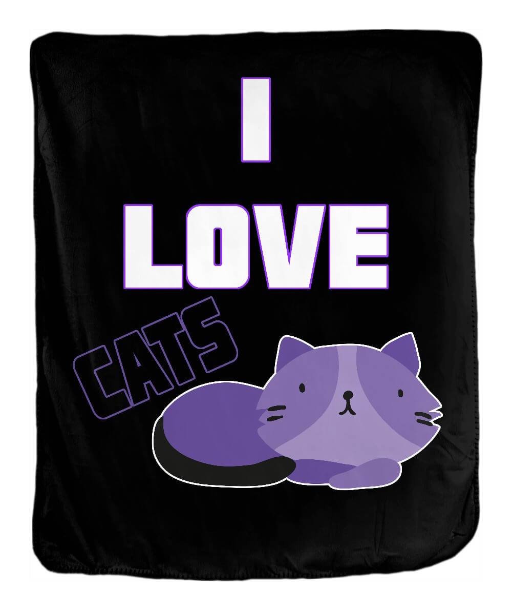 I Love Cats Blanket - Ark Emporium