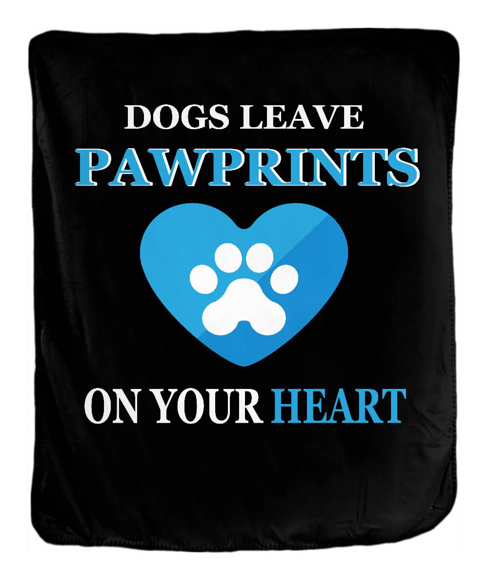 Dogs Leave Pawprints Blanket