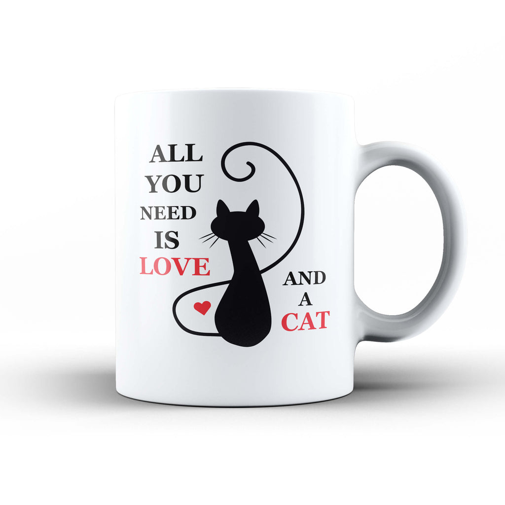 Love and a Cat Mug - Ark Emporium
