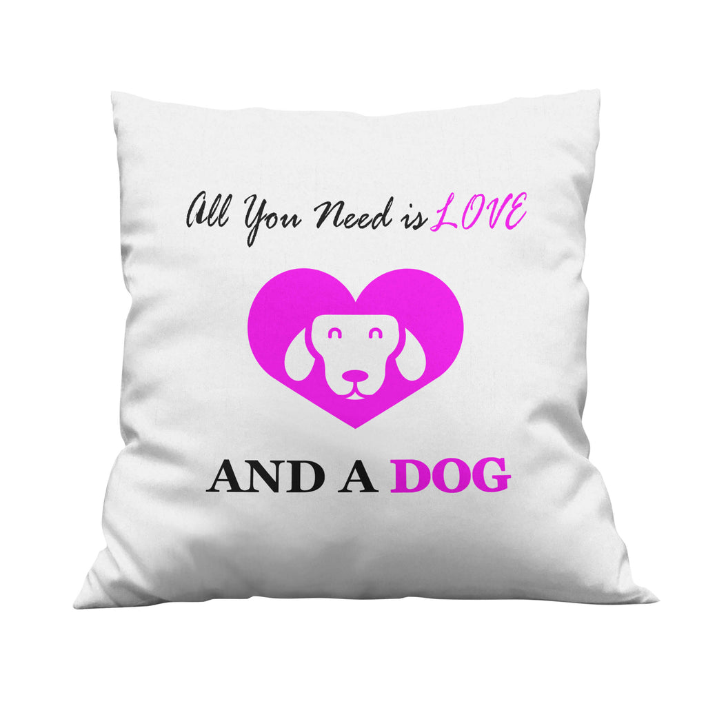 Love and a Dog Throw Pillow