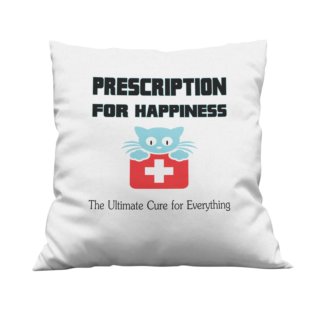 Prescription for Happiness Throw Pillow