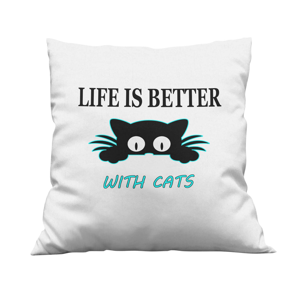 With Cats Throw Pillow - Ark Emporium