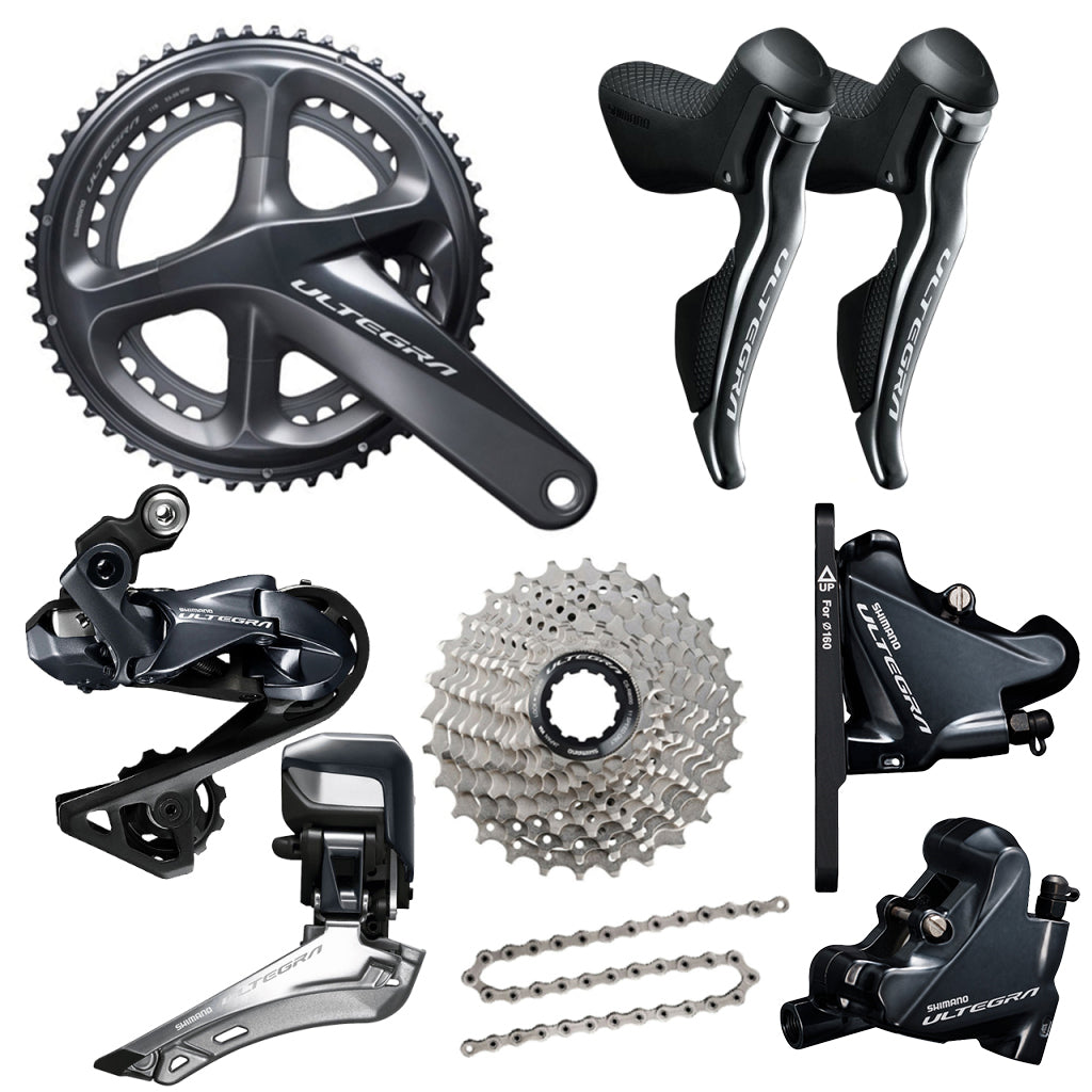 Shimano Ultegra DI2 Disc R8070 Groupset  - TUNE cycles
