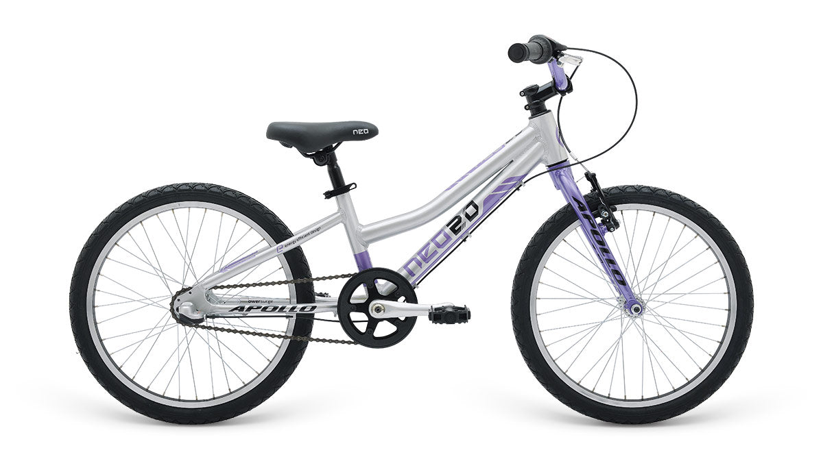 Neo 20 3I Girls Brushed Alloy / Purple / Black  - TUNE cycles