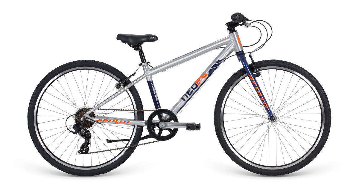 Neo 26 7S Boys Brushed Alloy / Navy Blue / Orange  - TUNE cycles