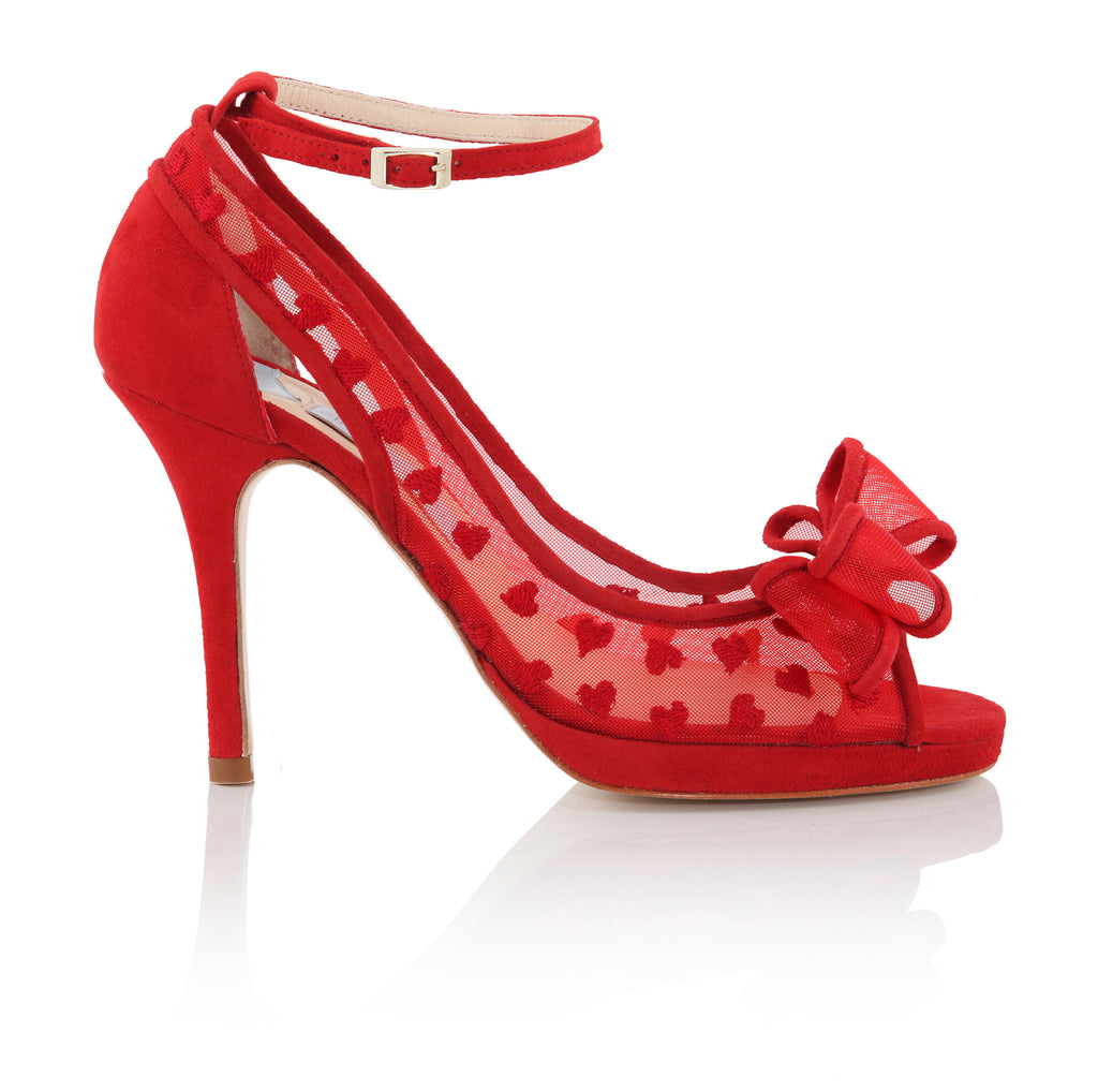ac770dffdedaae all red peep-toe platform ...