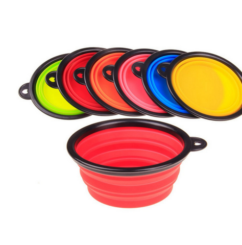 Silicone Travel Dog Water and Food Bowl