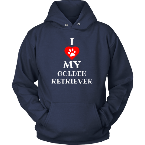 Hoodie - I Love My Golden Retriever