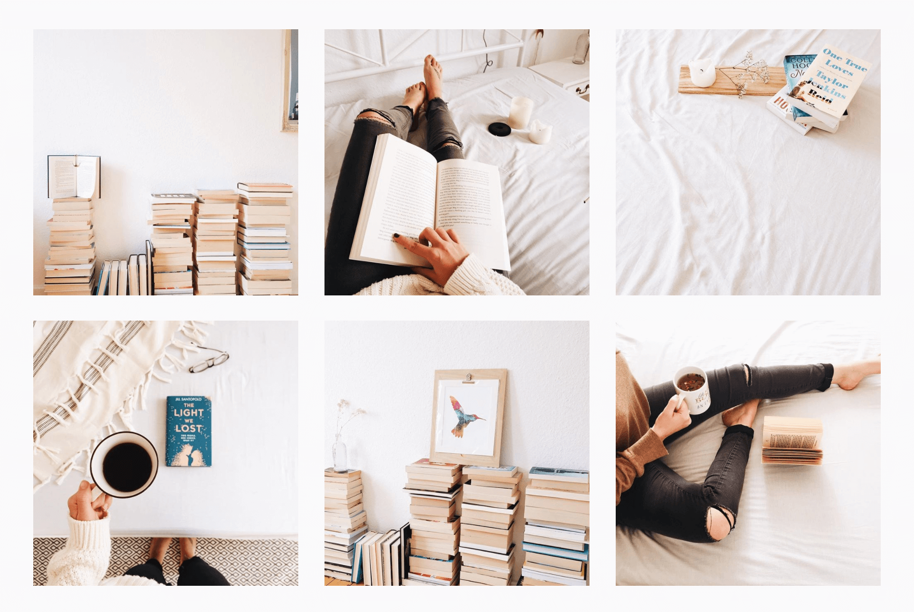 snippet of thebibliotheque's bookstagram theme