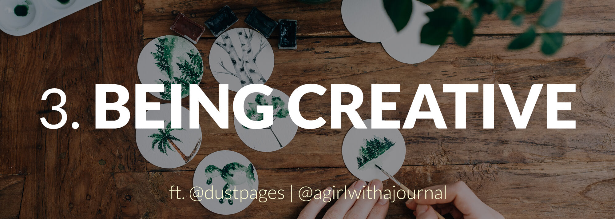 header image - being creative