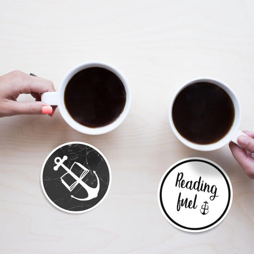 "Beverage Coasters for Readers - ""Reading Fuel"""