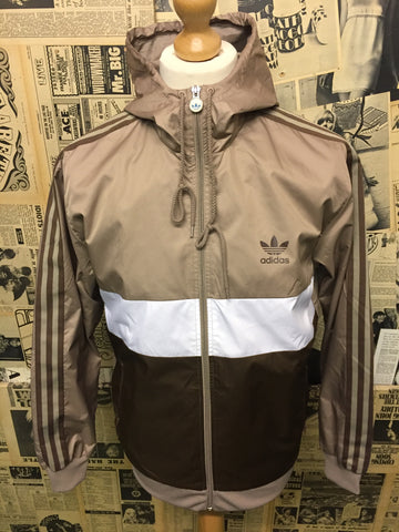 Adidas Originals Track Top Jacket in Brown & Light Gold - Size L - Product Vintage