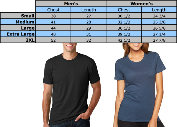 Size Chart: Wino Shirt Club