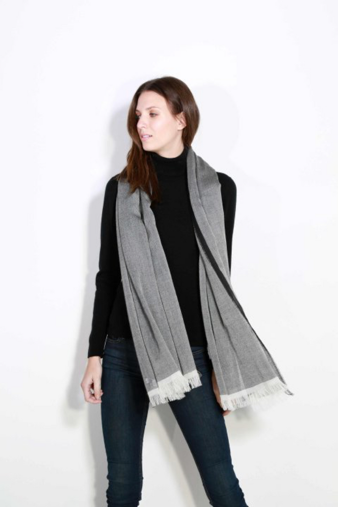 Johnstons of Elgin Cashmere Tonal Tipped Scarf