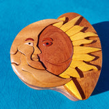 Moon and Sun Eclipse Wooden Puzzle Box