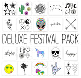 Deluxe Festival Temporary Tattoos with Unicorns and Aliens