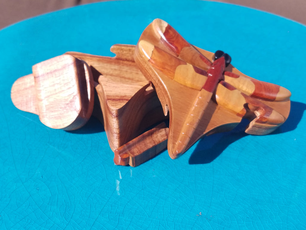 Dragonfly Wooden Puzzle Box (Stash Box)