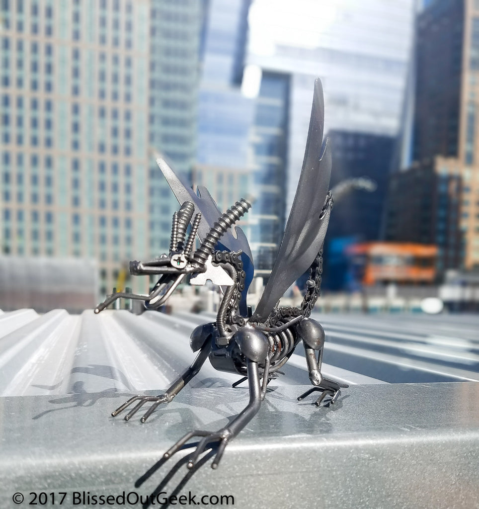 Flying Dragon - Handmade from Recycled Metal