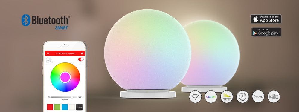 Smart ORB Light - Changes color, with wireless charge station