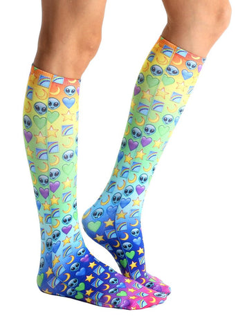 TV Test Pattern Knee High Socks