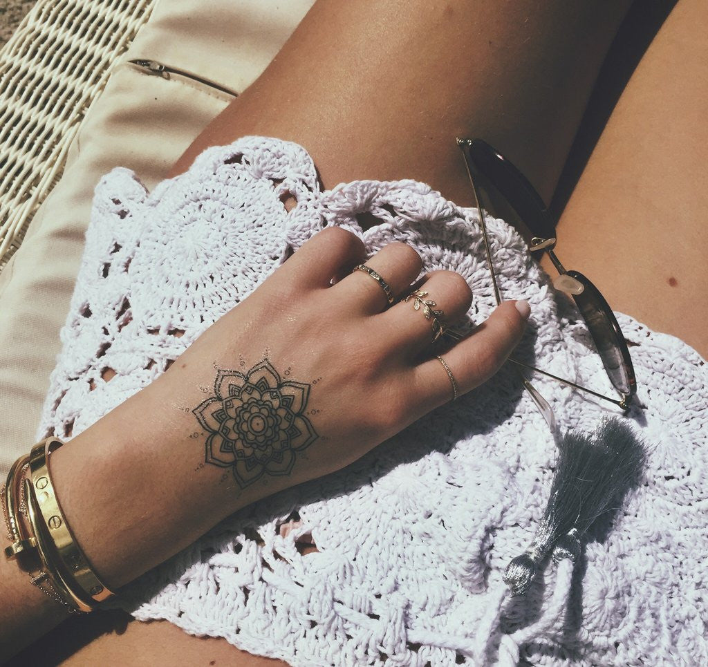 Beach Bum Temporary Tattoos  - Mandala