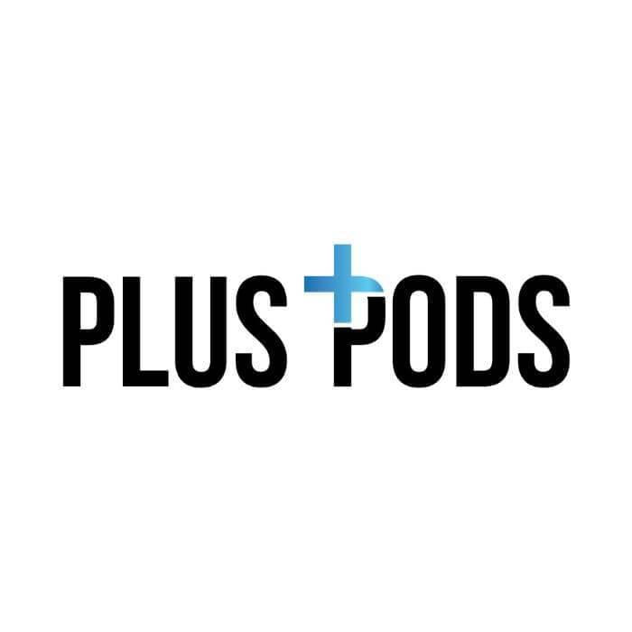 Plus Pods (Juul Compatible Pods) Logo - Vape Juices - East Coast Vape Distribution