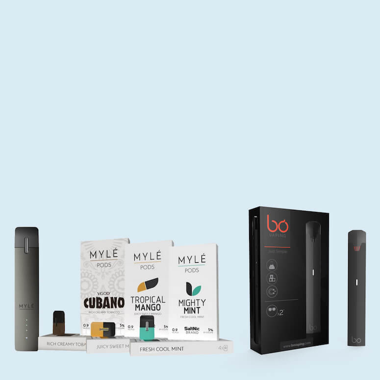 Closed Portable Pod System Vape Kits & Pods - ECVD Retail and Wholesale