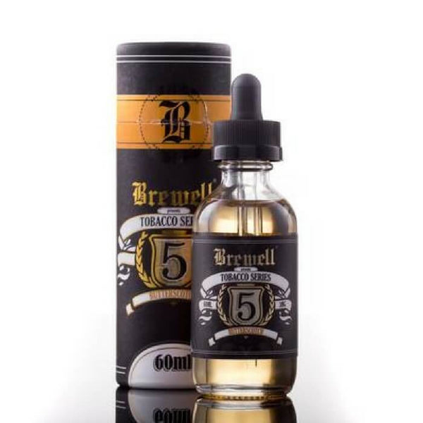 #5 (Butterscotch Tobacco) by Brewell Tobacco Series - Cheap Vape Juice - East Coast Vape Distribution