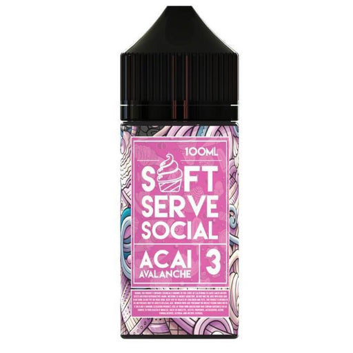 Acai Avalanche by Soft Serve Social E-Liquid - Cheap Vape Juice - East Coast Vape Distribution