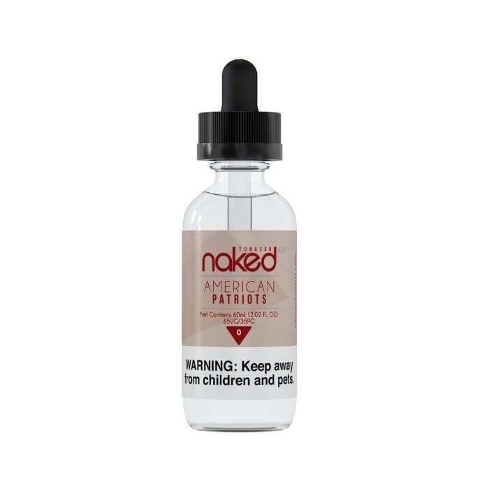 American Patriots Tobacco by Naked 100 Tobacco E-Liquid - Cheap Vape Juice - East Coast Vape Distribution