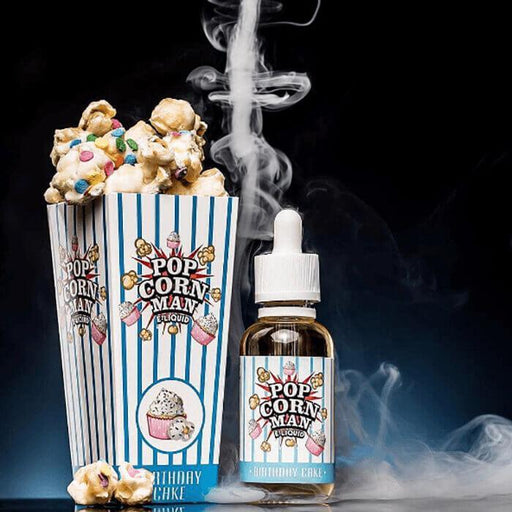 Birthday Cake by Popcorn Man E-Liquid - Cheap Vape Juice - East Coast Vape Distribution