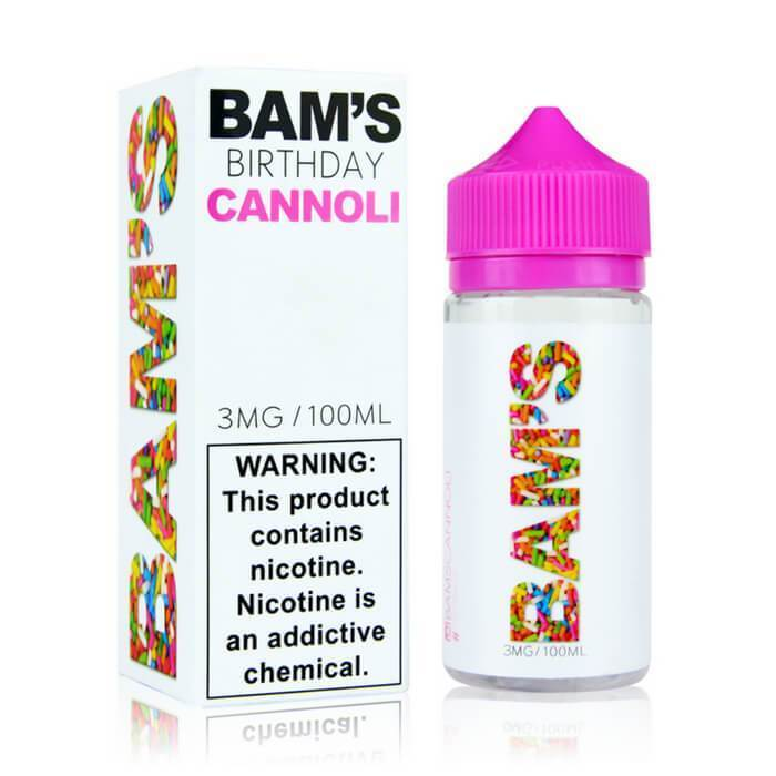 Birthday Cannoli by Bam's Cannoli eJuice - Cheap Vape Juice - East Coast Vape Distribution