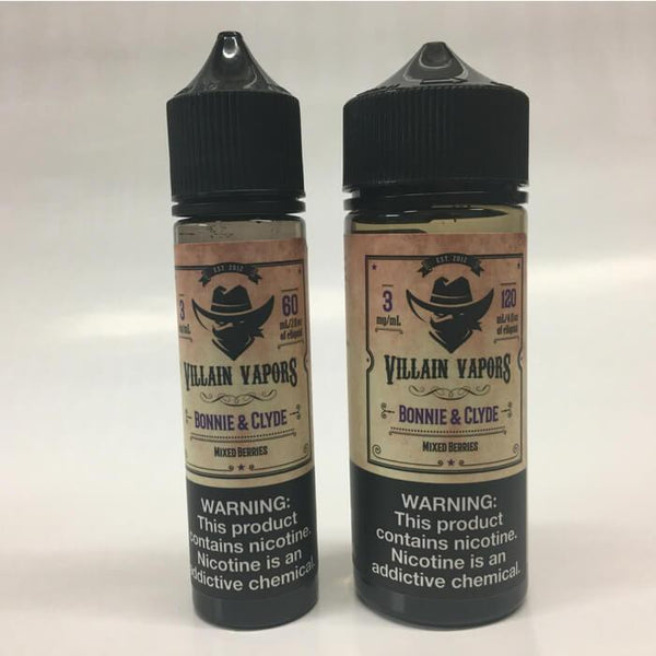 Bonnie and Clyde by Villain Vapors E-Liquids - Cheap Vape Juice - East Coast Vape Distribution