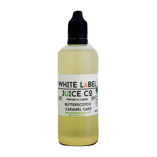 Butterscotch Caramel Cake by White Label Juice Co - Cheap Vape Juice - East Coast Vape Distribution