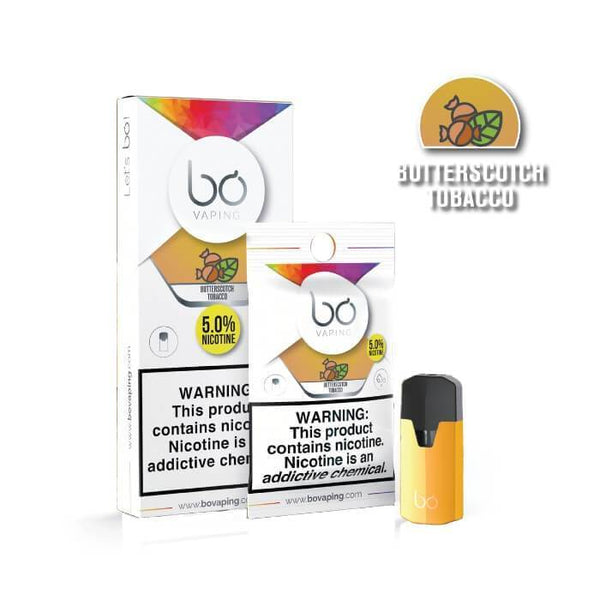Butterscotch Tobacco Bo Pods by Bo Vaping - Cheap Vape Juice - East Coast Vape Distribution