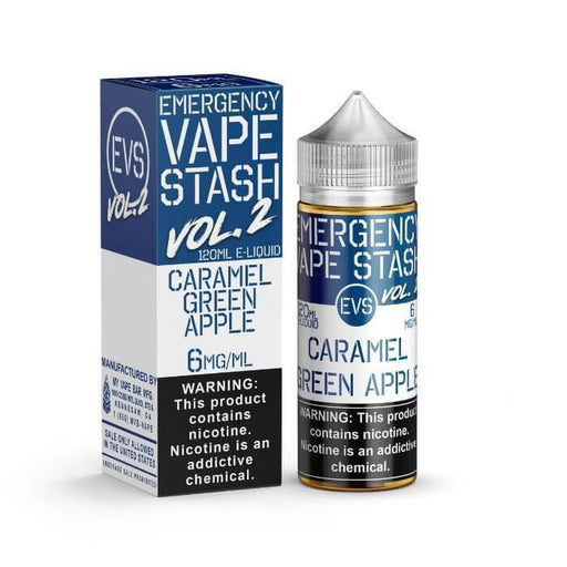 Caramel Green Apple by Emergency Vape Stash E-Liquid - Cheap Vape Juice - East Coast Vape Distribution