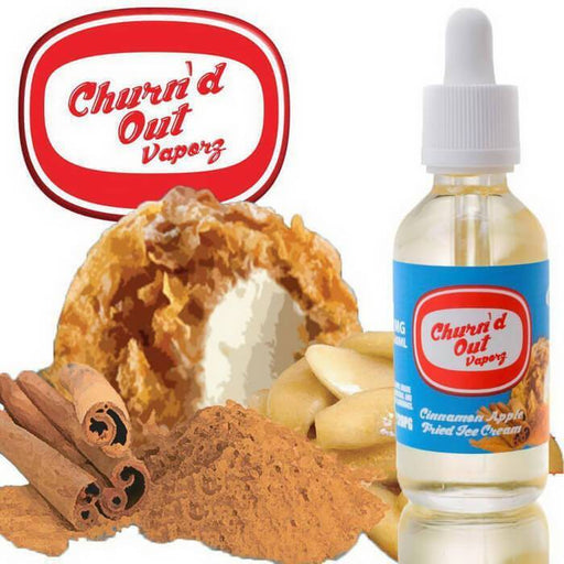 Cinnamon Apple Fried Ice Cream by Churn'd Out Vaporz - Cheap Vape Juice - East Coast Vape Distribution