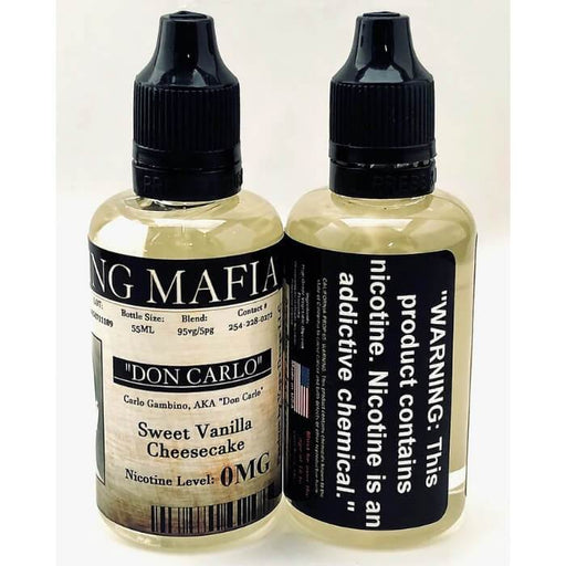 Don Carlo by Vaping Mafia E-Liquid - Cheap Vape Juice - East Coast Vape Distribution