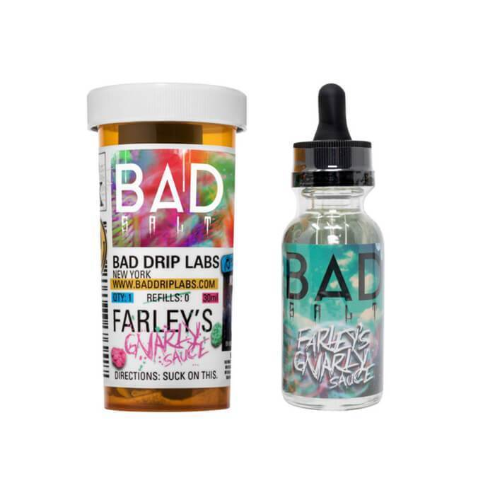 Farley's Gnarly Sauce by Bad Drip Nicotine Salt eJuice - Cheap Vape Juice - East Coast Vape Distribution