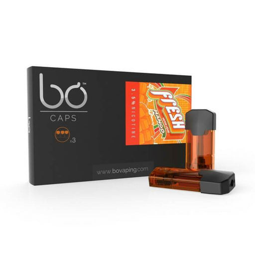 Fresh Vapor Mango Bo Caps by Bo Vaping (3-Pack) - Cheap Vape Juice - East Coast Vape Distribution