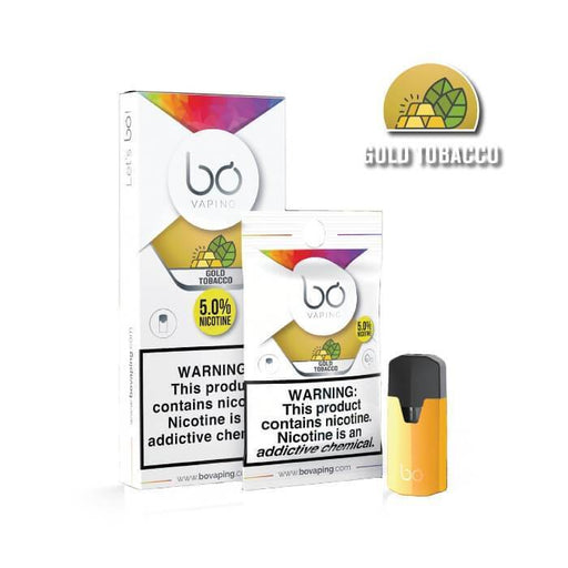 Gold Tobacco Bo Pods by Bo Vaping - Cheap Vape Juice - East Coast Vape Distribution
