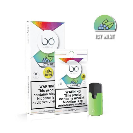 Icy Mint Bo Pods by Bo Vaping - Cheap Vape Juice - East Coast Vape Distribution
