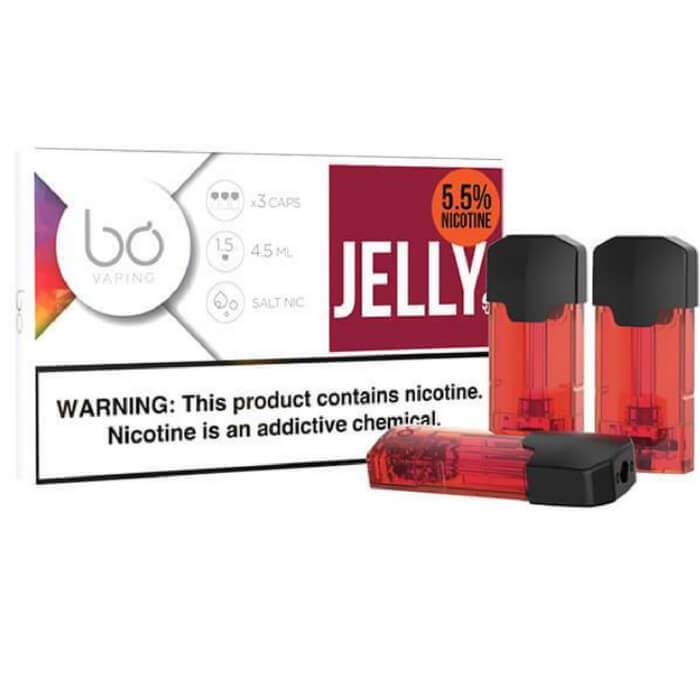 Jelly 55MG by Fresh Vapor Bo eCig Vaping Cap (3-Pack) #1