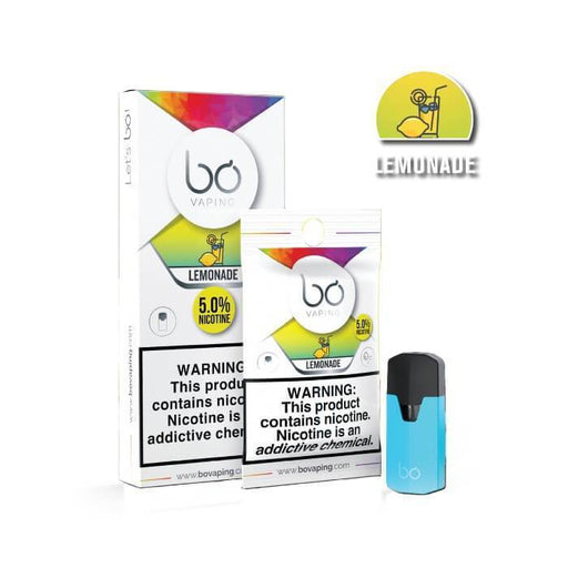 Lemonade Bo Pods by Bo Vaping - Cheap Vape Juice - East Coast Vape Distribution