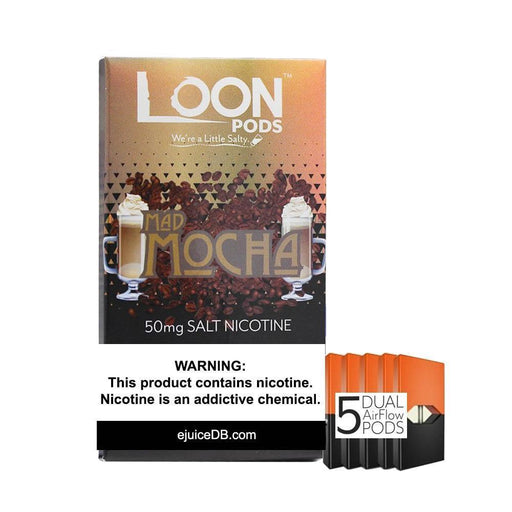 Loon Pods Mad Mocha (5-Pack) - Cheap Vape Juice - East Coast Vape Distribution