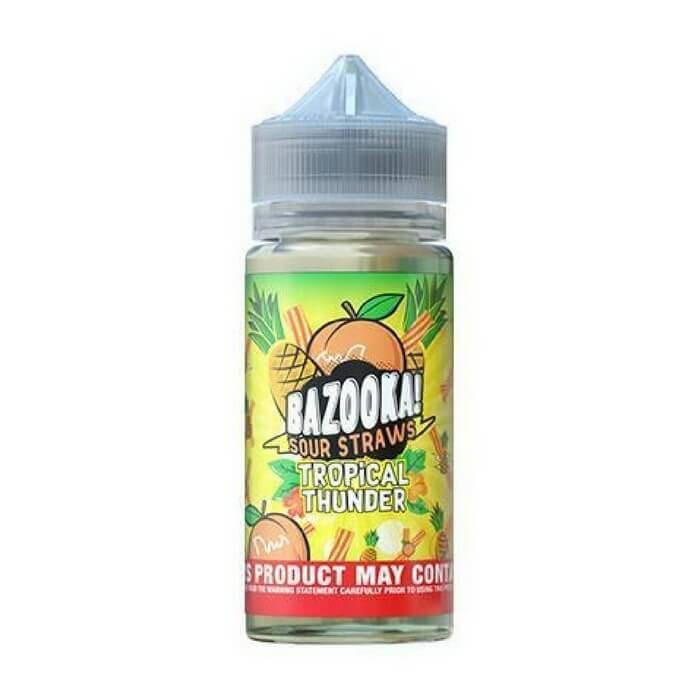 Pineapple Peach Sour Straws by Bazooka eJuice - Cheap Vape Juice - East Coast Vape Distribution
