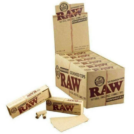 Raw Rolling Papers Gummed Tips Perforated