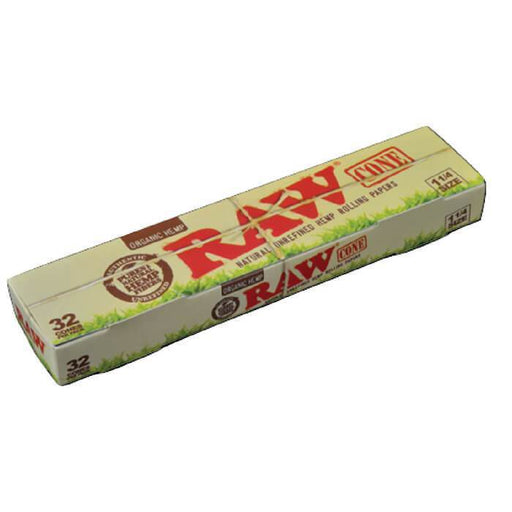 Raw Rolling Papers Organic 1 1/4 Cone - Cheap Vape Juice - East Coast Vape Distribution